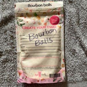 Bourbon balls pink zebra sprinkles